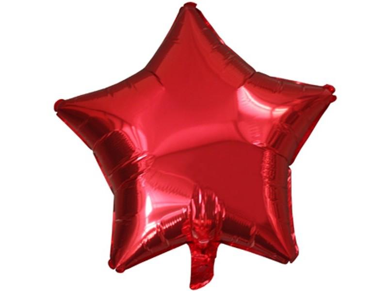 Звезда Металлик Красный 18″с гелием