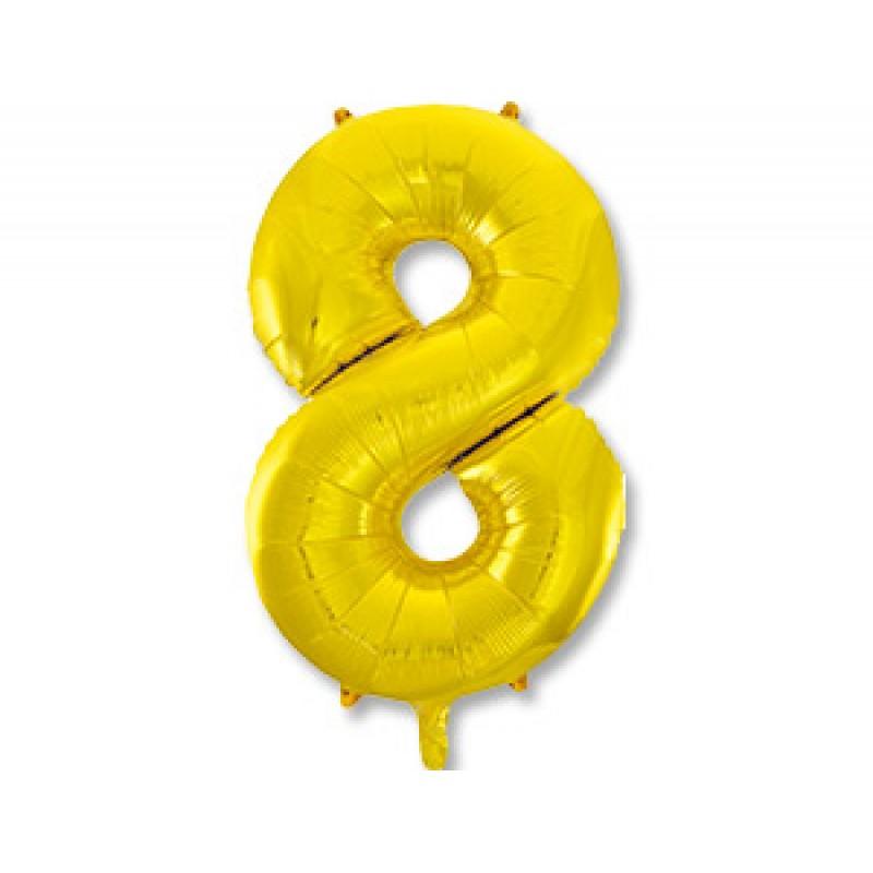 Цифра 8 Золото