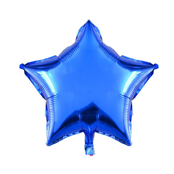 Звезда Металлик Синий 18″ с гелием