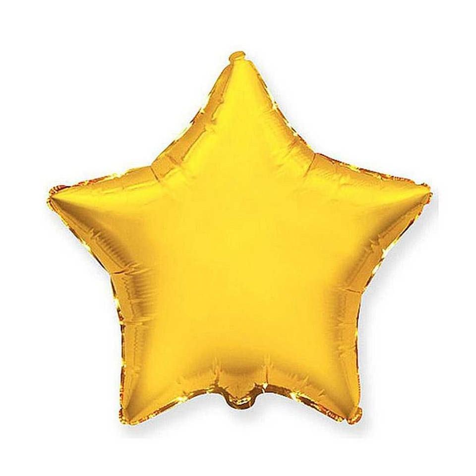 Звезда Металлик Золото 18″ с гелием